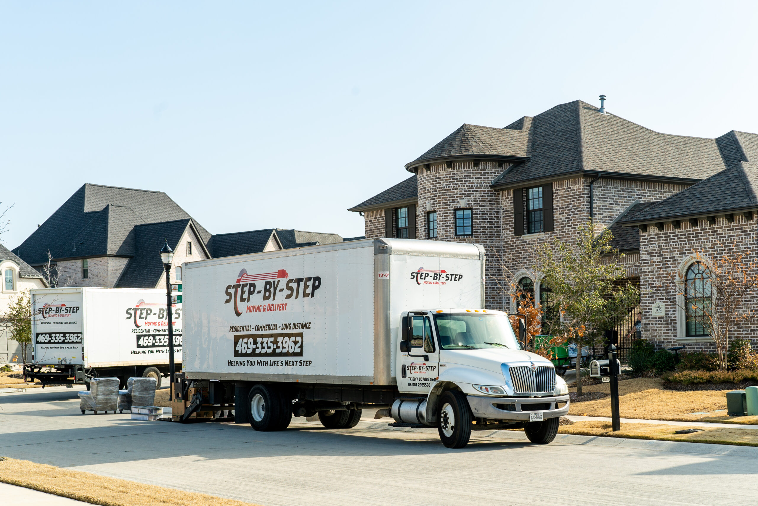 Local Moving in and around Frisco, TX. Step by Step Moving and Delivery